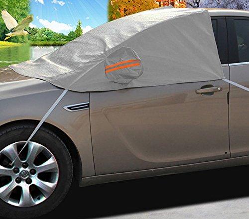 A-Express Scheibenabdeckung Windschutzscheiben Frostabdeckung Auto Schneeschutz Frontscheibe Spiegel Abdeckung -