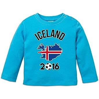 Iceland 2016 Fan Baby Langarmshirt by Shirtcity