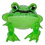 Yiwu Mart Toys Factory Aufblasbarer Frosch, transparent grün, Wassertier als Wasserspielzeug