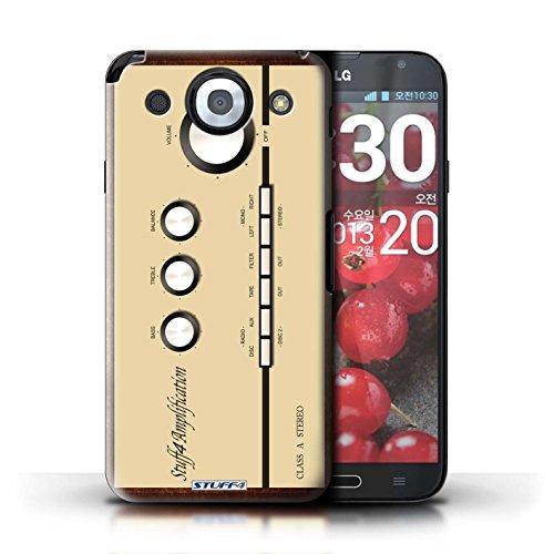 Kobalt® Imprimé Etui / Coque pour LG Optimus G Pro / Boombox conception / Série Retro Tech Amp/Amplificateur