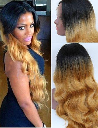 Fashion wigstyle lang gewellt natur Ombre Perücke Hand auf Spitze vorne Perücke perfekt Perücke blond sexy Perücke auf Verkauf billige