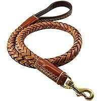 Pet Online La cadena de perro perros grandes, ocho strand gruesa de cuero redondo cuerda, gran perro perro Perro Pastor Alemán, Cadena Cuerda