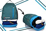 Suntop Air One 20 Litres Lightweight Backpack Bag with Shoe Compartment for Casual/Gym | Backpack under 500 | Outdoor Travel Backpack For Hiking Camping (AirForce Blue & Turquoise)