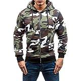 Sport Herren Sweatshirt Hoodie,Kanpola Männer Warm Langarmshirt Bedruckte Pulli Freizeit Slim Shirt Outdoor Pullover Kapuze (EU-50/CN-XL, Grau)