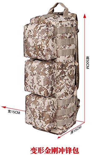 Weizhi Outdoor Bergsteigen Bag Travel Package Schultertasche Militärischen Taktiken Camouflage Tasche Amerikanische Armee Tasche Kleine Waterproofdesert Digital Desert digital