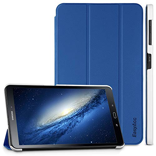 EasyAcc Custodia Cover per Samsung Galaxy Tab A 10.1 2016, Ultra Sottile Smart Cover in Pelle con Funzione di Supporto per Samsung Galaxy Tab A 10.1 T580 / T585 Tablet, Blu Navy
