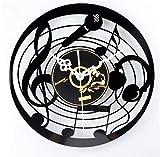 Pmrioe Musik Mikrofon Vinyl Cd Rekord Wanduhr Mode Kreative Wand Wanduhr Tisch Retro Nostalgie Ultra Leise