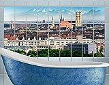 Apalis fliesenwandbild München, Tile Größe: 15cm x 20cm; Maße: 60cm x 120cm