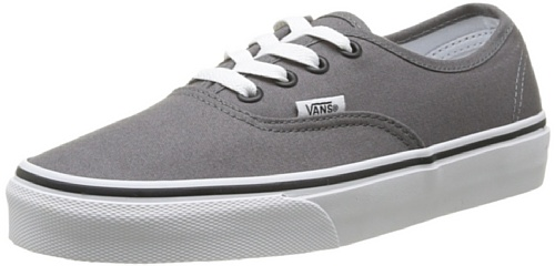 Vans Authentic, Zapatillas de Tela Unisex, Gris (Pewter/Black), 43 EU, Gris (Pewter/Black), 43 EU