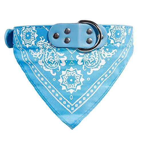 SSH Hundehalstuch Hundehalsband Haustier - Einstellbar Dreieck Handtücher - 5 Größen Verfügbar,lightblue,L