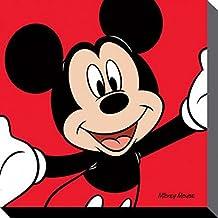 Mickey Mouse - Red Cuadro, Lienzo Montado Sobre Bastidor (40 x 40cm)