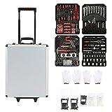 Aleseae Durable Tool Trolley Set Compact 725PCS Mobiler Werkstatt-Werkzeugkasten mit Tragebox - Mehrfarbig