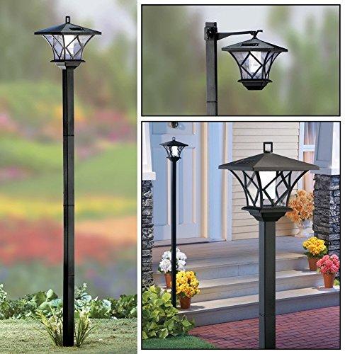 Solalite® 1,5m Größe Outdoor Solar Powered Schwarz Garten Lampe Post Licht -
