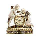 Design Toscano Horloge de cheminée chérubin du château Carbonne