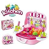 15000P 20 Stücke Kinderküche Set Küchenspielzeug Tragbare Küche Koffer Kinder Rollenspiele