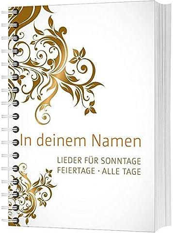 In deinem Namen (Liederbuch mit Spiralbindung): Lieder für Sonntage. Feiertage.