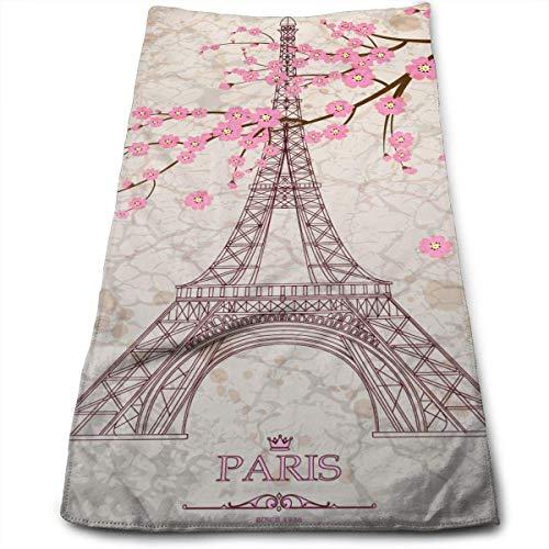 Hipiyoled Eiffel Tower with Pink Maximale Weichheit und vielseitige Handtücher Reisegymnastik Home Office Handtuch