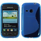 PhoneNatic - Carcasa de silicona para Samsung Galaxy Young S6310, color azul