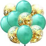ZSQQSCL Ballons De Décoration pour Fêtes 12 Ballons en Latex De 81 Cm Confetti...