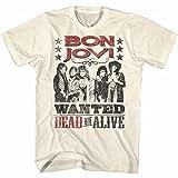 Bon Jovi - Das Totes oder lebendiges T-Shirt der Männer, X-Large, Natural