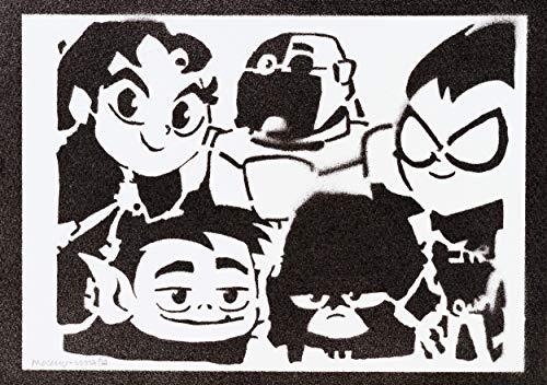Teen Titans Go! Poster Plakat Handmade Graffiti Street Art - Artwork