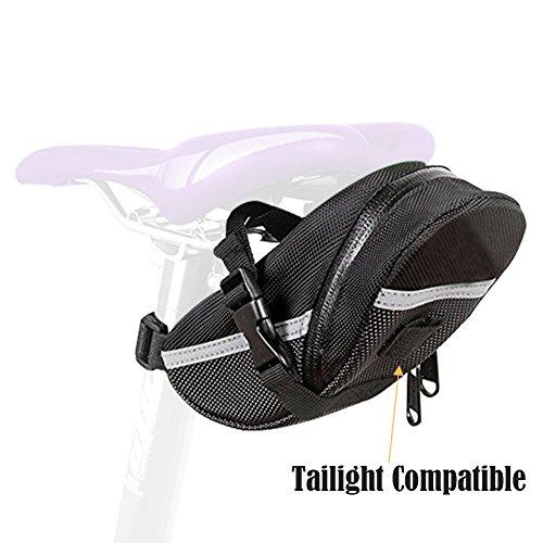 Wasserdicht Fahrrad Umschnall Bike Keil Sattel Sitz Tasche für Radfahren Schwarz