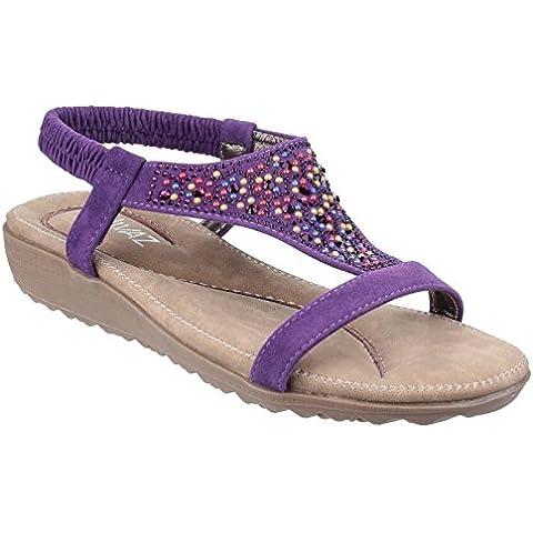Divaz Womens/Ladies Nicosia Sling Back T-bar Open Toe Summer Sandal