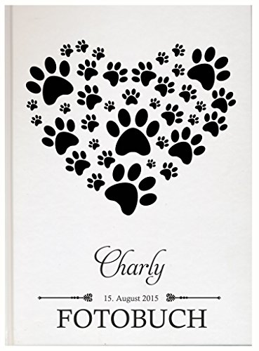Personalisiertes Fotobuch für Ihr Haustier Pet Fotoalbum Erinnerungsbuch (Motiv 12, 48 Seiten/ 24 Blatt) (Personalisiert Katze Name-tags)