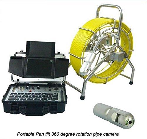 Gowe Heavy Duty Kanalisation Ablauf Schlange darüber CCTV Unterwasser Rohr Wand Inspektionskamera mit 60m Schubstange Kabel Sensor Größe: 1/10,2cm; horizontale Auflösung: 700TVL; Signal System: NTSC Ntsc Wand