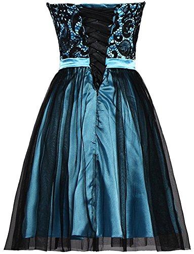 Gorgeous Bride Modisch Herzform A-Linie Mini Tanzkleider Partykleider 2017 Damen Abendkleider Kurz Cocktailkleider Ballkleider Fuchsia