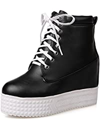 Girls American Muffin Buttom Bandage Platform Imitated Leather Boots