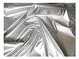 Fabrics-City SILBER LACKLEDER STOFF LEDER LACKSTOFF LEDERSTOFF STOFFE, 2797