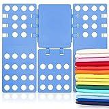 TianTu Wäsche Faltbrett,Faltbar Kunststoff Verstellbar Kleidung & T-Shirt Laundry Ordner, Entfalten Größe 57 x 68,5 cm ideal für Zuhause und Reise Blau