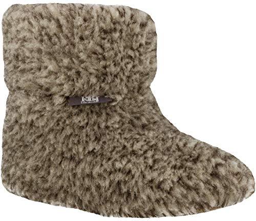 RBJ leather shoes Warme Hüttenhausschuhe aus Schafwolle 100% Wolle Herren Damen Hüttenschuhe (41 EU, Grau 963)