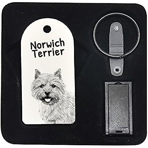 Norwich Terrier, 8GB de impulsión de la pluma, colgante con una imagen de un perro