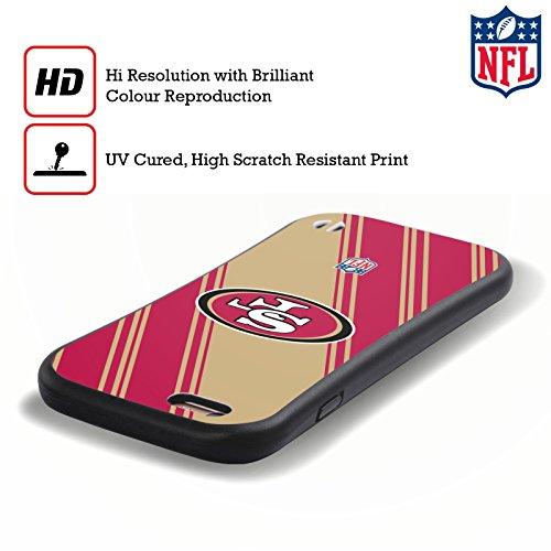 Ufficiale NFL LED 2017/18 San Francisco 49Ers Case Ibrida per Apple iPhone 5 / 5s / SE Righe