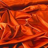 Orange Herzogin von Bridal Satin Rückseite Crepe Stoff
