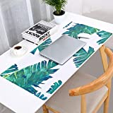 Thboxes Fashion Pattern Oversized Precision Pro Gaming Mouse Pad Computer Desk Mat Jungle Plantain 900x420