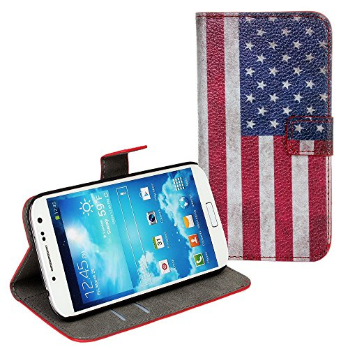 iNenk Custodia per Samsung Note2 N7100 Reg; Bandiera Telefono Verniciato Conchiglia Protettivo PU Manica Portafoglio Stampata Britannico Americano Bandiera Telefono Donne-USA Bandiera