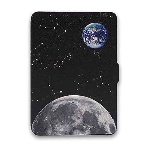 Schutz Hülle Tasche für Amazon Kindle Paperwhite Smart Tasche Etui Cover Case (Kindle Paperwhite, Stern und Mond)