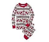 LvRao Familie Schlafanzug Pyjama Weihnachten Baby Kinder Mama Papa Xmas Rentier Hausanzug Nachtwäsche (Xmas #Kinder, 3T)