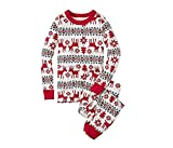LvRao Famiglia Pigiama di Natale Pajamas Xmas Renna Pantaloni T-Shirt per Mamma papà Neonato Bambino (Xmas #Bambini, 12T)