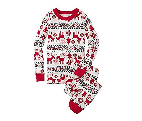 anzug Pyjama Weihnachten Baby Kinder Mama Papa Xmas Rentier Hausanzug Nachtwäsche (Xmas #Kinder, 6T) ()