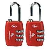 #10: Texas Usa Pack Of 2 Metal Red Luggage Lock