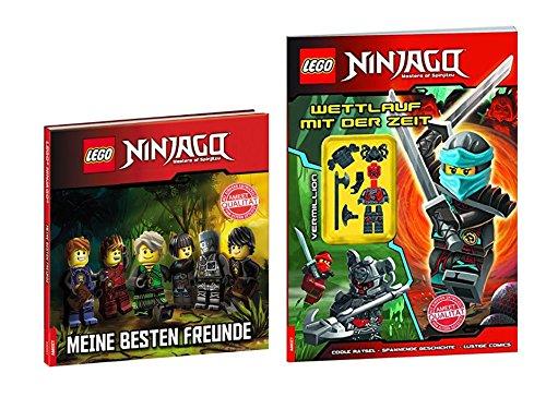 eundschaftsbuch: Meine besten Freunde + LEGO® NINJAGO™ Heft: Wettlauf mit der zeit (Ninjago Ware)