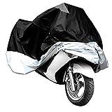 L-Peach Housse de Protection Couverture étanche pour Moto 50cc Scooter Anti UV Fadeproof Noir et Argent Frontière M: 200*90*100cm
