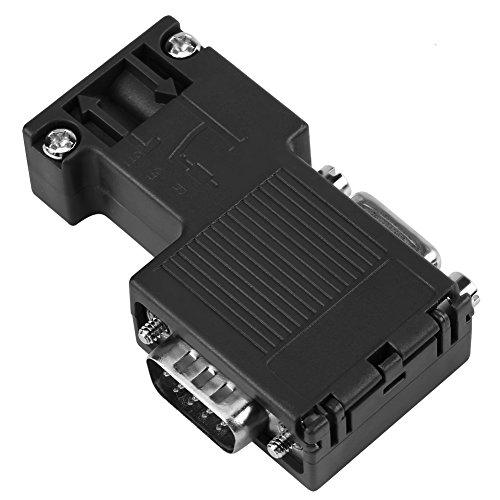 Akozon 90 ° Programmierkabel Schnittstelle DP-Busanschluss, Profibus-Stecker Kompatibel Siemens Prozessfeld Bus PLC SPS 6ES7 972-0BB12-0XA0 mit DP-Kabelschnittstelle - Inlet Port