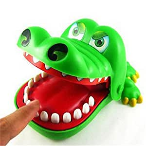 Big Bargain Nettes Krokodil Mund Zahnarzt Bite Finger Spiel Funny Toy Grün