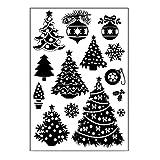 Lunji Navidad Sello Transparente De Silicona Sello Adhesivo Libro De Recuerdos Relieve Álbum Decoración Craft