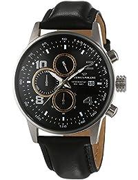 TOM TAILOR Herren-Armbanduhr Chronograph Quarz Leder 5414004